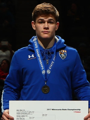 Class AAA 170 Champion Jake Allar (12th) St. Michael-Albertville Photo credit: MN Prep Photo