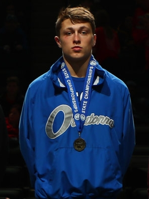 Class AAA 182 Champion Brandon Moen (12th) Owatonna Photo credit: MN Prep Photo