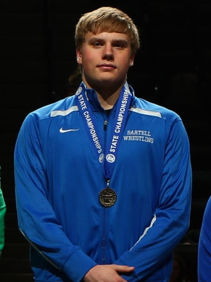Class AAA 220 Champion Cole Fibranz (12th)  Sartell-St Stephen Photo credit: MN Prep Photo