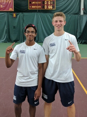 Boys Class AA Doubles Champions    Nicholas Aney (Jr) & Varun Iyer (So)    Rochester Century