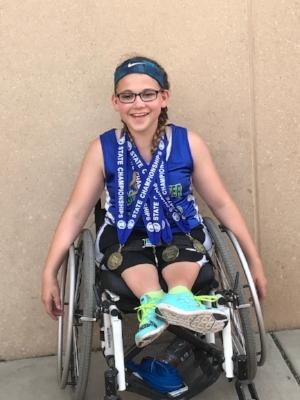 100 Meter Dash Wheelchair    Lilly Stiernagle    Maple River