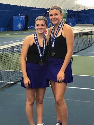 2017-18 Girls Class A Doubles Champions    Clare Palen (10) & Natalie Allison (11)    Rochester Lourdes