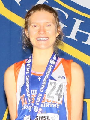 Class AA Girls Champion    Emily Covert    Minneapolis Washburn    Photo Credit:   MN Prep Photo