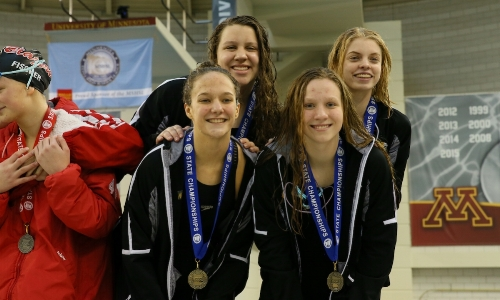 400 Freestyle Relay    Hutchinson -Grace Hanson, Bella Thovson, Hailey Farrell, Lexi Kucera