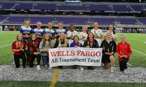 2017-18 Girls Class A All-Tournament Team   Photo Credit:  MN Prep Photo