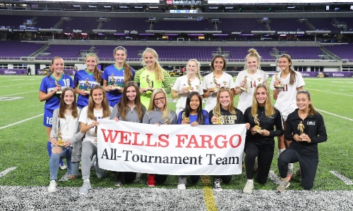 2017-18 Girls Class AA All-Tournament Team Photo Credit: MN Prep Photo