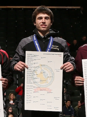 Class A 138 Champion    Kyle Cavanaugh    Caledonia/Houston    Photo credit:    MN Prep Photo