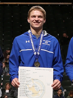 Class A 152 Champion    Adam Jaeger    Belgrade-Brooten-Elrosa    Photo credit:    MN Prep Photo