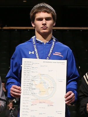 Class A 170 Champion    Jaden Kindopp    Canby    Photo credit:    MN Prep Photo