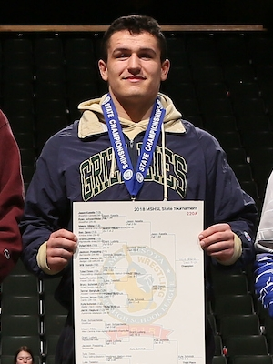 Class A 220 Champion   Will Storch  WEM/JWP   Photo credit:    MN Prep Photo