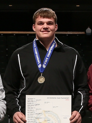 Class A 285 Champion    Craig Orlando    Bertha-Hewitt/Verndale/Parkers Prairie    Photo credit:    MN Prep Photo