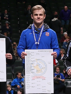 Class AA 132 Champion    Jake Gliva    Simley    Photo credit:    MN Prep Photo