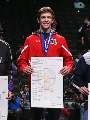 Class AA 145 Champion   Josh Block of  Mankato West   Photo credit:    MN Prep Photo