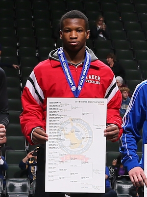 Class AA 170 Champion    Isaiah Thompson    Detroit Lakes    Photo credit:    MN Prep Photo