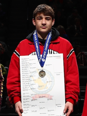 Class AAA 120 Champion    Reid Ballantyne    Stillwater    Photo credit:    MN Prep Photo