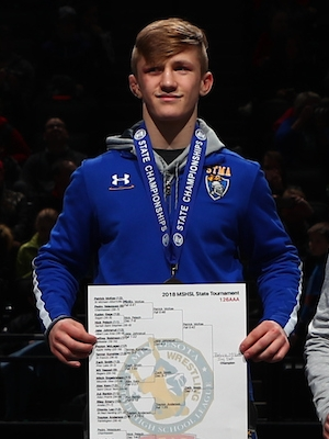 Class AAA 126 Champion    Patrick Mckee    St. Michael-Albertville    Photo credit:    MN Prep Photo