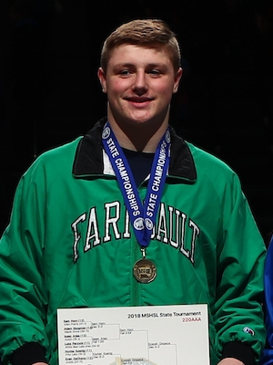 Class AAA 220 Champion    Austin Rendler    Faribault    Photo credit:    MN Prep Photo