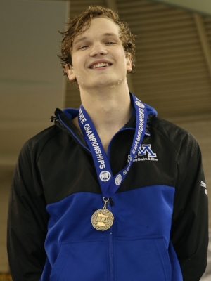 100 Butterfly    Erik Gessner    Minnetonka   Photo credit:  MN Prep Photo