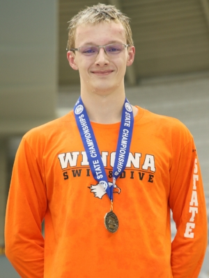 100 Freestyle    Jack Herczeg    Winona   Photo credit: Winona Daily News