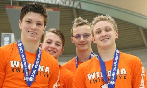 400 Freestyle Relay    Winona -Griffin Wolner,Tanner Lozenski,Grant Wolner,Jack Herczeg