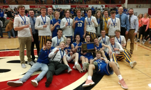 St. Cloud Cathedral | Section 6AA Champion    Roster / Schedule / Results  |  Website  |  Media Guide   Team Twitter |  School Twitter  |  Students Twitter  |  Athletics FB  |  School FB    St. Cloud Times Story   QF Result: St. Cloud Cathedral over ESKO 64-60 (3OT)