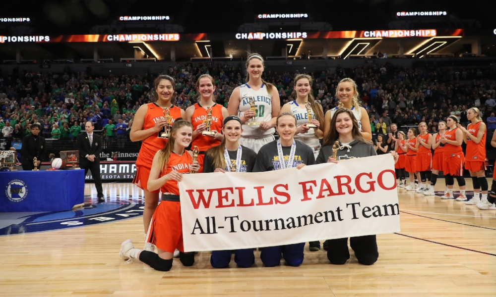 2017-18 Class A Girls Basketball All-Tournament Team  Photo credit:  MN Prep Photo
