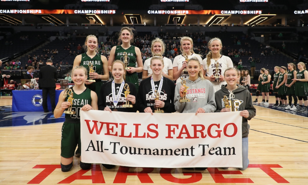 2017-18 Class AA Girls Basketball All-Tournament Team  Photo credit:  MN Prep Photo