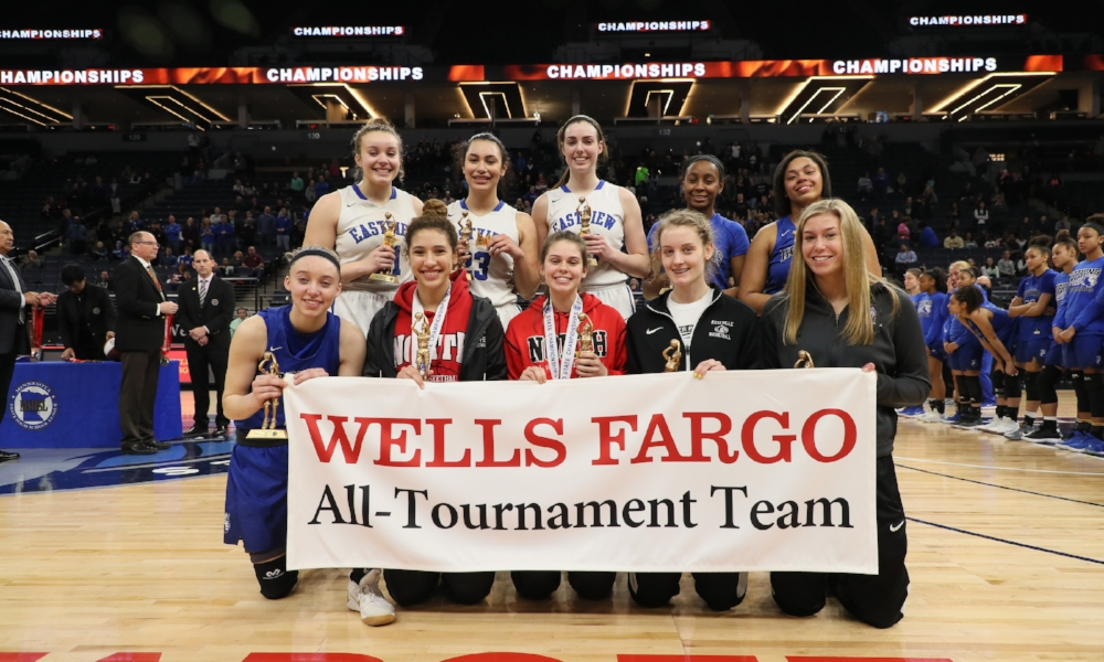 2017-18 Class AAAA Girls Basketball All-Tournament Team  Photo credit:  MN Prep Photo