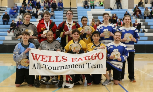 2017-18 Floor Hockey PI Division All-Tournament Team    Names of team members:   Photo credit:  MN Prep Photo