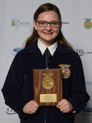 Meats    Emily Stubbe    Jackson County Central FFA Chapter    Sponsor: Mark & Donna Moenning Family