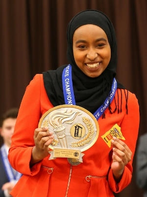 Original Oratory    Halima Badri    Apple Valley    Photo:  MN Prep Photo