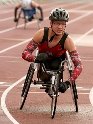 2017-18 MN Track & Field    100 Meter Dash Wheelchair    Peyton Gunnarson    Lewiston-Altura