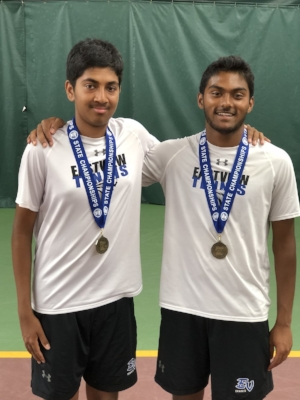 Boys Class AA Doubles Champions    Nisal Liyanage & Sourabh Terakanambi    Eastview