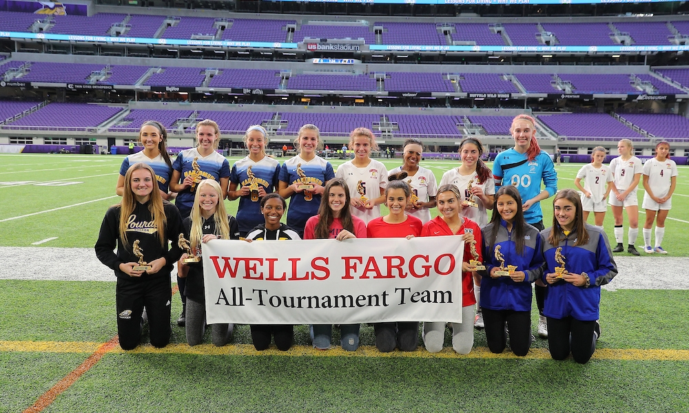 2018-19 Girls Class A All-Tournament Team   Photo Credit:  MN Prep Photo