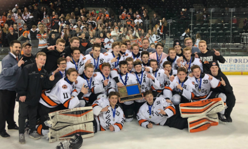 Moorhead | Section 8AA Champion    Roster  |  Schedule / Results  | Website |  Media Guide    Team Twitter  |  School Twitter  |  Students Twitter  | Team FB |  School FB   Quarterfinal result:  L, 2-4  vs. Edina  Consolation Semifinal result:  L, 2-3  vs. Duluth East