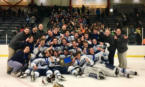 #2 Blaine | Section 5AA Champion    Roster  |  Schedule / Results  |  Website  |  Media Guide    Team Twitter  |  School Twitter  |  Students Twitter  |  Team FB  |  School FB    ABC Newspapers Story   Quarterfinal result:  W, 4-2  vs. White Bear Lake  Semifinal result:  L, 3-4  vs. Eden Prairie