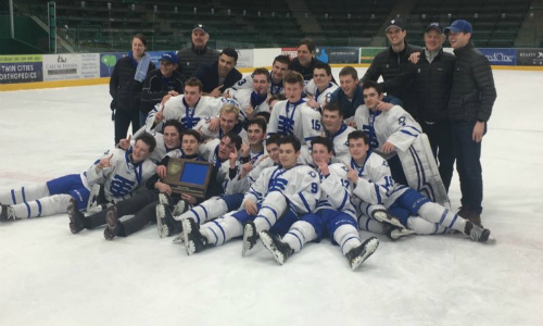 #4 St. Thomas Academy | Section 3AA Champion    Roster  |  Schedule / Results  |  Website  |  Media Guide    Team Twitter  |  School Twitter  |  Students Twitter  | Team FB |  School FB   Quarterfinal result:  W, 3-1  vs. Duluth East  Semifinal result:  L, 3-6  vs. Edina