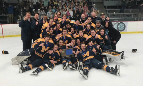 #1 Mahtomedi | Section 4A Champion    Roster  |  Schedule / Results  |  Website  |  Media Guide    Team Twitter  |  Athletics Twitter  |  School Twitter  |  Students Twitter  | Team FB   Pioneer Press Story   Quarterfinal result:  W, 6-0  vs. New Ulm  Semifinal result:  L, 2-3 (OT)  vs. Greenway
