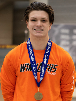 100 Butterfly   Grant Wolner  Winona  Photo credit:  MN Prep Photo