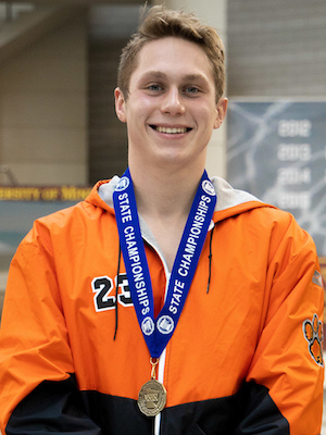 1 Meter Diving   Spencer Fritze  Park Rapids  Photo credit:  MN Prep Photo