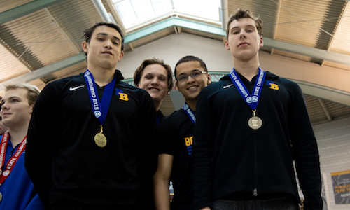200 Medley Relay    Breck/Blake - Anderson Breazeale, James Pan, Spencer Pruett, Julian Frerichs   Photo credit:  MN Prep Photo