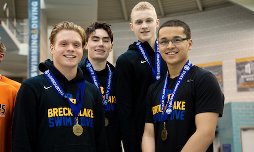 200 Freestyle Relay    Breck/Blake -  James Pan, Charlie Crosby,Thayer Breazeale and Luke Hamlin  Photo credit:  MN Prep Photo