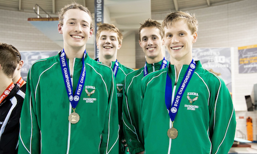 200 Freestyle Relay  Edina - Peter Larson, Charlie Webb, Max Dow and Andrew Gray  Photo credit:  MN Prep Photo