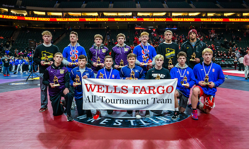 2017-18 Class AA All-Tournament Team    Names of team members   Photo credit:   MN Prep Photo