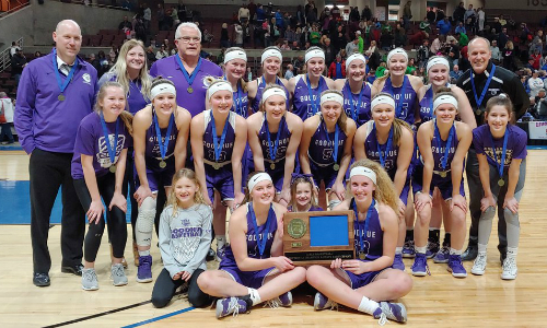 #2 Goodhue | Section 1A Champion    Roster  |  Schedule / Results  |  Website  |  Media Guide   Team Twitter |  School Twitter  | Students Twitter | Team FB | School FB   Republican Eagle Story   Quarterfinal result: 50-48 win vs Mountain Iron-Buhl -  Box Score   Semifinal result: 47-43 vs Menahga -  Box Score  |  Post Bulletin Story