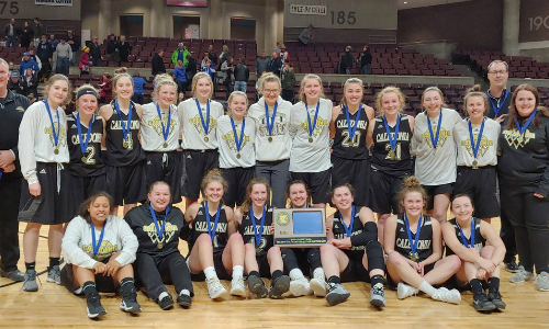 #4 Caledonia | Section 1AA Champion    Roster  |  Schedule / Results  |  Website  |  Media Guide   Team Twitter |  School Twitter  |  Students Twitter  | Team FB |  School FB   Quarterfinal result: 56-44 vs. Proctor -  Box Score   Semifinal result: 65-55 vs. Roseau -  Box Score  |  KAAL Video