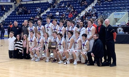 #2 Ada-Borup | Section 8A Champion    Roster | Schedule / Results  | Website |  Media Guide   Team Twitter |  School Twitter  | Students Twitter | Team FB | School FB   InForum & WDAY Story/Video    Quarterfinal result: 49-39 win vs. Cromwell-Wright -   BOX SCORE  -  INFORUM Story   Semifinal result: 55-57 loss vs North Woods -  BOX SCORE   3rd Place result: 68-72 loss vs Ada-Borup -  BOX SCORE