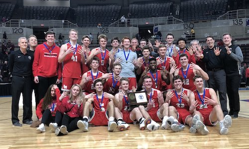 #5 Lakeville North | Section 1AAAA Champion    Roster | Schedule / Results  |  Website  |  Media Guide    Team Twitter  |  School Twitter  |  Students Twitter  | Team FB |  School FB    Quarterfinal result: 73-48 win vs.  Eden Prairie  -    BOX SCORE    -   KDHL Radio Story    Semifinal result: 47-45 win vs. Park Center -    BOX SCORE    Championship result: 40-55 loss vs Hopkins -  BOX SCORE