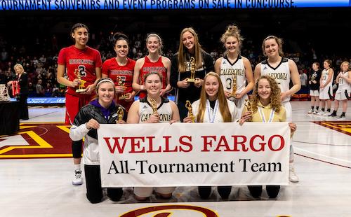 2018-19 Class AA Girls Basketball All-Tournament Team  Photo credit:  MN Prep Photo
