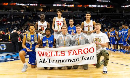 2018-19 Boys Basketball Class AA All-Tournament Team    Names of team members   Photo credit:  MN Prep Photo